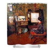 Alice In Studio In Shinnecock Shower Curtain