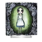 Alice In The Deadly Garden Shower Curtain