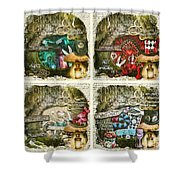 Alice Of Wonderland Series Shower Curtain