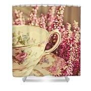 Alice's Breakfast Shower Curtain