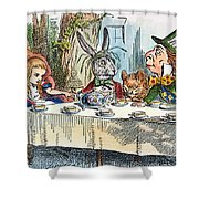 Alices Mad-tea Party, 1865 Shower Curtain