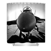 Alien Aircraft Shower Curtain