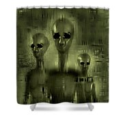 Alien Brothers Shower Curtain