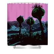 Alien Eden Shower Curtain