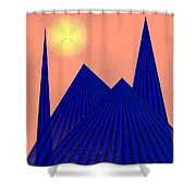 Alien Fortress Shower Curtain