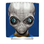Alien From Space Shower Curtain
