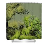 Alien Garden 2 Shower Curtain