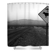 Alien Highway Shower Curtain by David Lee Thompson