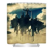Alien Invasion By Raphael Terra Shower Curtain