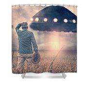 Alien Invasion Shower Curtain