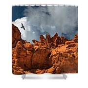 Alien Landscape Valley Of Fire Shower Curtain