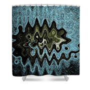 Alien Life Of The Summer Squash Shower Curtain