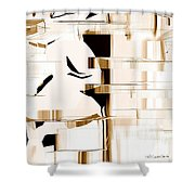 Alien Look Out Shower Curtain