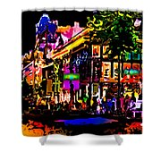 Alien Night Out Shower Curtain