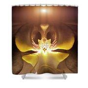 Alien Orchid Shower Curtain by Wim Lanclus