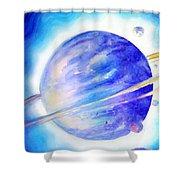 Alien Planet. Blue Light Of Hope Shower Curtain