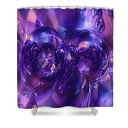 Alien Structures Shower Curtain