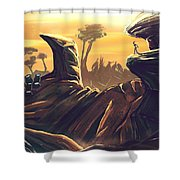 Alien Territory Shower Curtain