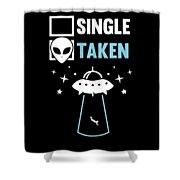Alien Ufo Single Gift Shower Curtain