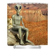 Alien Vacation - Grand Canyon Shower Curtain
