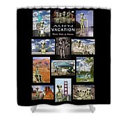 Alien Vacation - Poster Shower Curtain