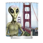 Alien Vacation - San Francisco Shower Curtain