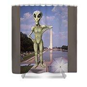 Alien Vacation - Washington D C Shower Curtain