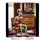 Alien Vacation - We Roll With Jazz Shower Curtain