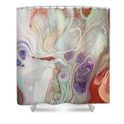 Alien Worlds. Abstract Fluid Acrylic Painting Shower Curtain