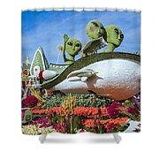 Aliens Spaceship 3 Shower Curtain