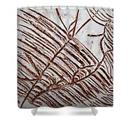 Aligned - Tile Shower Curtain
