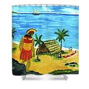 Alihi Hawaiian For Chief #57 Shower Curtain