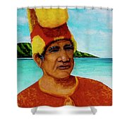 Alihi Hawaiian Name For Chief #295 Shower Curtain