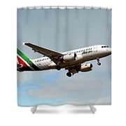 Alitalia Airbus A319-112 Shower Curtain