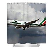 Alitalia Embraer Erj-175std Shower Curtain