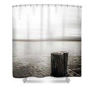 Alki Piling Shower Curtain