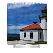 Alki Point Light Shower Curtain