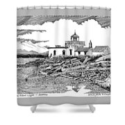 Alki Point Lighthouse Seattle Shower Curtain