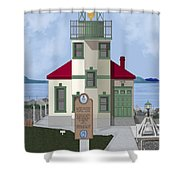 Alki Point On Elliott Bay Shower Curtain