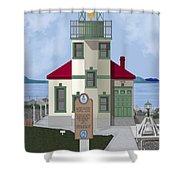 Alki Point On Elliott Bay Shower Curtain
