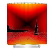 Alki Sail 2 Shower Curtain