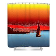 Alki Sail 3 Shower Curtain