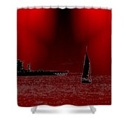 Alki Sail 5 Shower Curtain