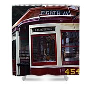 All Aboard For Brooklyn Bridge Shower Curtain
