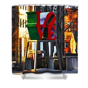 All About Love Shower Curtain
