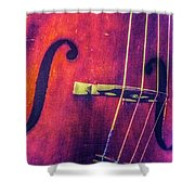 All About The Bass Shower Curtain