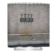 All Alone Four Pipes Shower Curtain