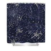 All Around In Blue And Black Shower Curtain