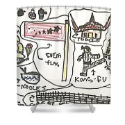 All Aspects Of China  Shower Curtain