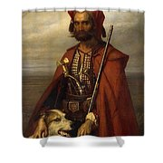 All Croat Shower Curtain